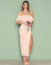 Rare London Off Shoulder Ruffle Maxi Dress