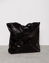 WOS Black patent Watching You Bag