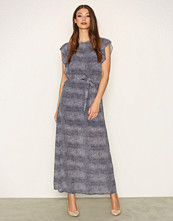 Michael Kors Navy Zephyr Maxi Dress