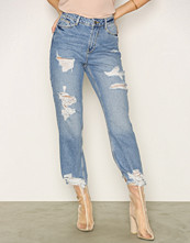 New Look Ripped Straight Leg Jenna Jeans
