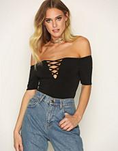 New Look Lattice Front Bardot Neck Bodysuit