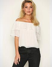 Miss Selfridge White Embroidered Schiffley Bardot Top