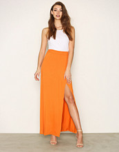 NLY Trend Orange Flowy Maxi Skirt