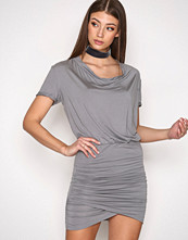 Hunkydory Stone Grey Tahae Jersey Dress