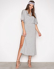 Hunkydory Light Grey Melange Billie Jersey Dress