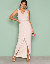 TFNC Pink Alexandra Embroidered Maxi Dress