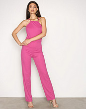 NLY Trend Strong Pink Crepe Neckline Jumpsuit