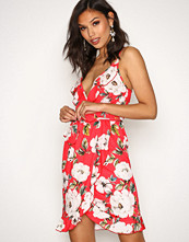 NLY One Frill Wrap Print Dress
