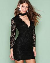 Ax Paris Black Lace Choker Bodycon Dress