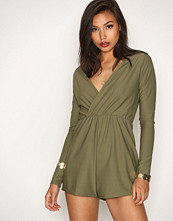 Missguided Crepe Wrap Playsuit