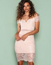Ax Paris Light Beige Lace Bodycon Dress