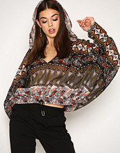 Free People Black Hold On Tight Pullover