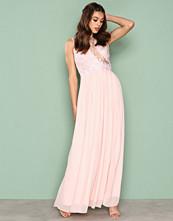 Ax Paris Pink Lace Detail Dress