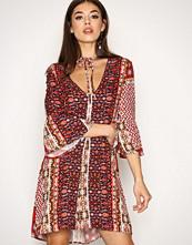 Glamorous Red Aztec Print Dress