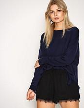 New Look Black Jacquard Texture Lace Hem Shorts