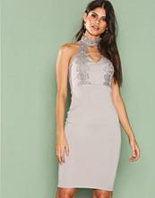 Ax Paris Grey Halsterneck Choker Dress