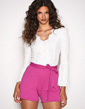 NLY Trend Fuchsia Dressed Tie Shorts