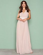 TFNC Light Beige Killy Maxi Dress