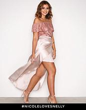 NLY Trend Lys rosa Satin Skirt