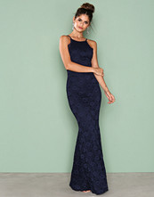 NLY Eve Navy Romantic Halterneck Gown