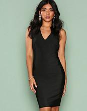 Wow Couture Black Strap Detail Back Bodycon Dress