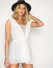 For Love & Lemons White Stardust Lace Dress