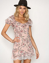 For Love & Lemons Pink Bee Balm Mini Dress