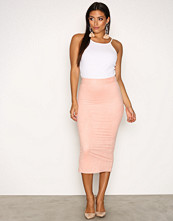 NLY One Rosa Suede Look Midi Skirt
