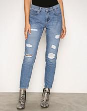 Vero Moda Blå Vmashley Nw Cigarette Ankle Jeans