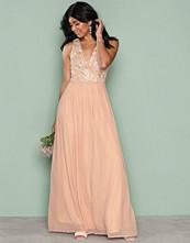 Ax Paris Light Beige SL Maxi Dress