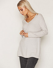 Only Lys grå onlGRACE L/S Long Pullover Knt