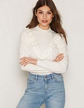 Selected Femme Hvit Sfaddi Ls Knit Cashmere Pullover Ex
