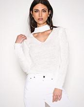 NLY Trend Hvit Choker Knit Polo