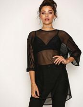 Glamorous Black Oversized Mesh Dress
