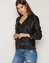 Only Svart onlSHEENA Faux Leather Biker Otw No
