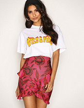 Missguided Hot Pink Wrap Frill Skirt