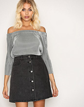 Noisy May Nmsunny Short Dnm Skater Skirt Blck