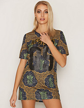 Only Mønstret onlAFRICA S/S Long Top Jrs
