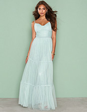 Little Mistress Sage Mesh Maxi Dress