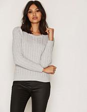 Only Lys grå onlLOUI L/S Pullover Knt