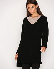 Filippa K Black Ribbed Wool Mix Tunic