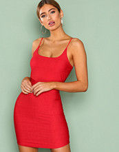 Missguided Red Strappy Scoop Neck Bandage Dress
