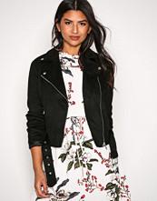 New Look Black Suedette Biker Jacket