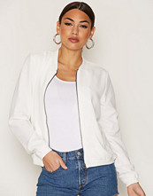 Only Hvit onlNOVA Lace Solid Bomber Jacket Wv