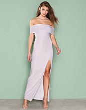 Ax Paris Grey Bardot Maxi Dress