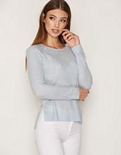 Only Blå onlROSE Rib L/S Pullover Knt Noos
