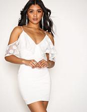 Rare London White Frill Strappy Dress