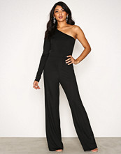 NLY One Svart One Shoulder Jumpsuit