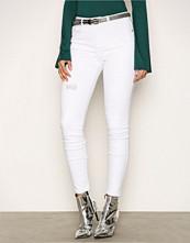 Missguided White Rip & Repair Skinny Jeans