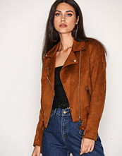New Look Tan Suedette Biker Jacket